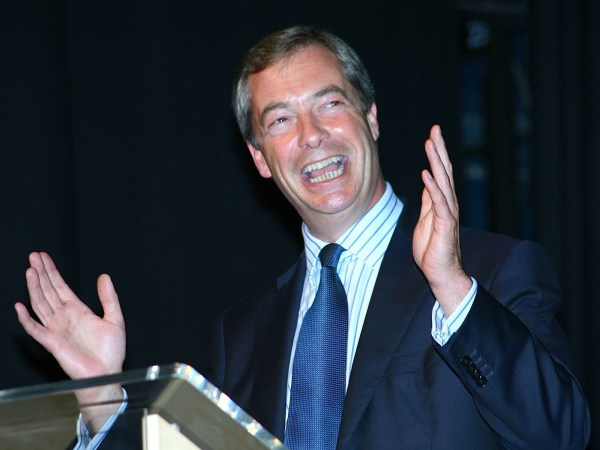 Nigel Farage smiling