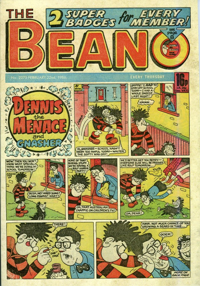75 years of The Beano :  A timeline (1938-2013) (3/4)